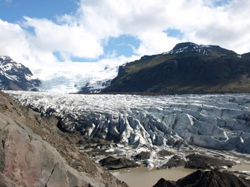 Lengua del glaciar Svinafelljökull