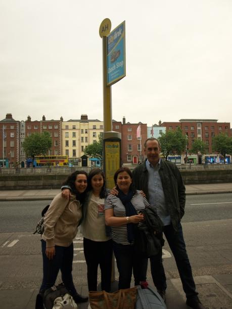 CityLink bus stop en Dublín centro
