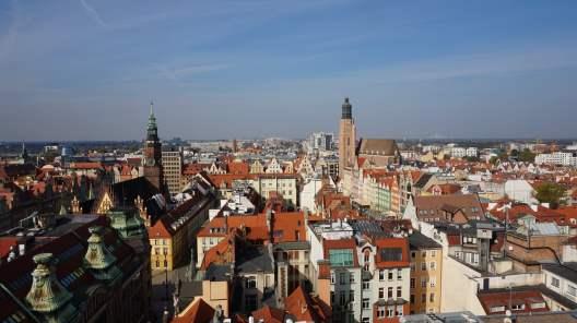 Alucinantes vistas sobre Breslavia desde las alturas de la Iglesia gótica de Santa María Magdalena.
